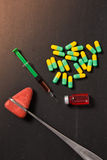 Medicine pills or capsules Royalty Free Stock Photography