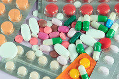 Medicine Pills & Capsules Royalty Free Stock Photo