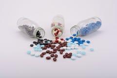 The medicine pills for treatment. The medicine pills for treatment disease Royalty Free Stock Images