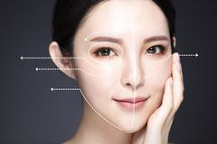 medicine, plastic surgery and skin care concept royalty free stock photo