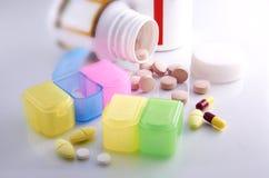 Medicine Prescription. Variety of tablet medicine pill prescription Stock Photos