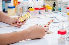 Medicine prescription Stock Photos