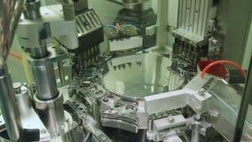 Medicine Production. Capsule. Shots of capsule production line stock footage