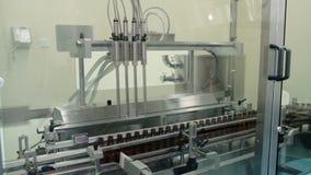 Medicine Production. Liquid Medicine. stock video footage