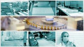 Medicine production-split screen stock video