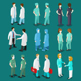 Medicine professional people icon set flat 3d isometric vector Royalty Free Stock Images