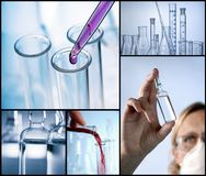 Medicine and research. Composing Medical Science and Research Royalty Free Stock Images