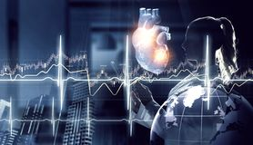 Medicine research of human heart royalty free stock image