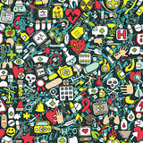 Medicine seamless pattern Stock Photography