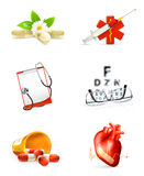 Medicine, set of icons Stock Photo