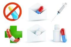 Medicine set on a white background Stock Photo