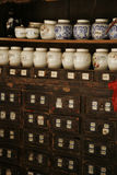 Medicine shop. A Chinese traditional medicine shop stock photography