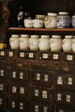 Medicine shop. A Chinese traditional medicine shop stock images