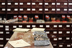 Medicine shop. This is a shop of traditional chinese medicine, guangzhou china Royalty Free Stock Images