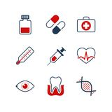 Medicine simple vector icon set Stock Photo
