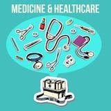 Medicine sketch design Stock Photography