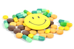 Medicine and smile face Royalty Free Stock Photos