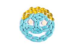 Medicine smiley face Royalty Free Stock Photos