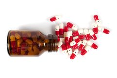 Medicine spilling out Royalty Free Stock Photo