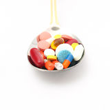 Medicine on spoon Stock Image