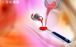 Medicine with spoon Royalty Free Stock Images