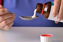 Medicine spoon Royalty Free Stock Photo