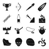 Medicine, sport, farm, mine and other web icon in black style. royalty free illustration