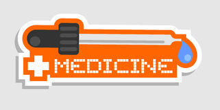 Medicine sticker Royalty Free Stock Images