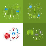 Medicine sticker infographic Stock Images