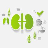 Medicine sticker infographic Stock Images