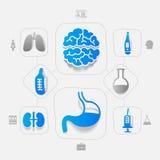 Medicine sticker infographic Royalty Free Stock Photos
