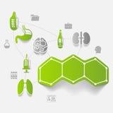 Medicine sticker infographic Stock Photo