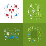 Medicine sticker infographic Royalty Free Stock Photo