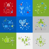Medicine sticker infographic Royalty Free Stock Images