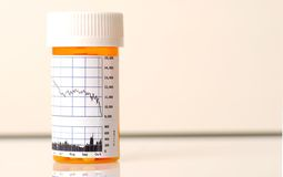 Medicine for Stock market Royalty Free Stock Image