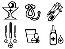 Medicine symbols Royalty Free Stock Images