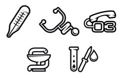 Medicine symbols Stock Photos