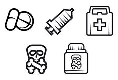 Medicine symbols Royalty Free Stock Photo