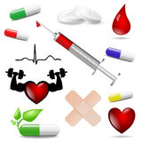 Medicine symbols isolated Royalty Free Stock Photo