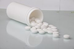 Medicine tablet antibiotic pills Royalty Free Stock Photography