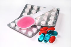 Medicine, tablet,. Pills blisters of pharmacy to cure pain and illness Royalty Free Stock Image