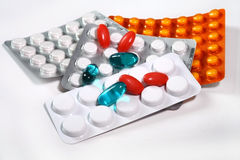 Medicine, tablet,. Pills blisters of pharmacy to cure pain and illness Stock Image