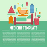Medicine template flat style Royalty Free Stock Photos