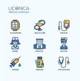 Medicine - thin line design icons, pictograms Stock Image