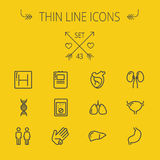 Medicine thin line icon set Royalty Free Stock Images