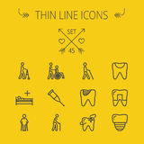 Medicine thin line icon set Stock Image