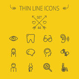 Medicine thin line icon set Stock Photos
