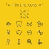 Medicine thin line icon set vector illustration