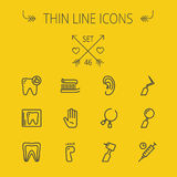 Medicine thin line icon set Royalty Free Stock Photo