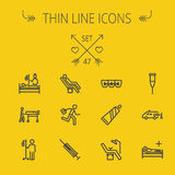 Medicine thin line icon set Stock Photography